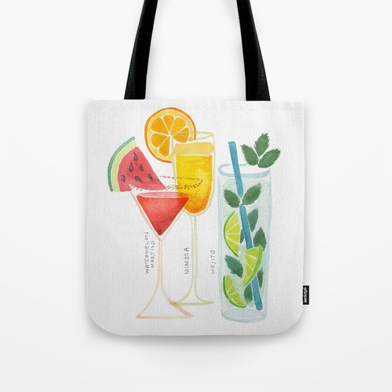 Summer Cocktail Trio Tote Bag