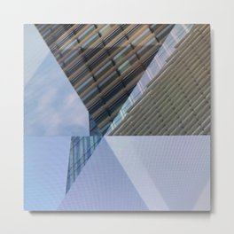 Abstract Architectural Geometric Designs Metal Print