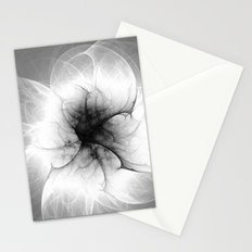 Ghost Flower Fractal Stationery Cards