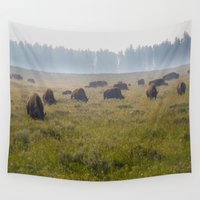 buffalo Wall Tapestries featuring Buffalo by Claire Laminen Photo