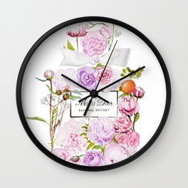 Parfum Perfume Fashion Floral Flowers Blooming Bouquet Wall Clock