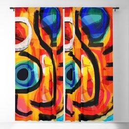 Abstract Art Good Energy Summer Vibes Blackout Curtain