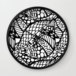 Black And White Abstract Background, Graphic Mom Gift Wall Clock