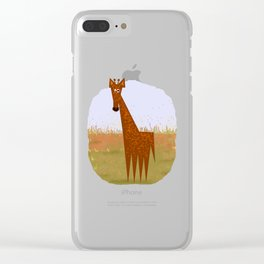 Giraffe on the savannahs Clear iPhone Case