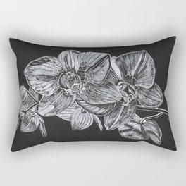 Silver Orchid Rectangular Pillow