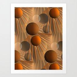 crazy lines and balls -4- Art Print