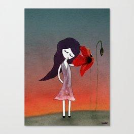 La fleur sans voix Canvas Print