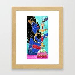 Hookah Jinn Framed Art Print