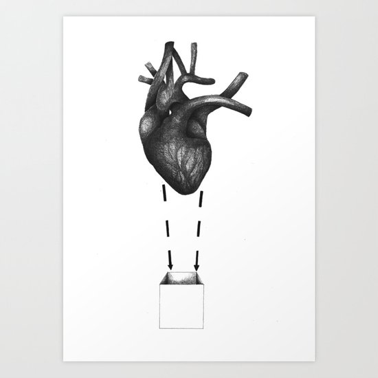 My heart comes undone... Art Print