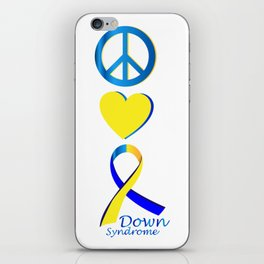 Down Syndrome Suppor Gifts iPhone Skin