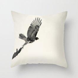 Red-Tail Hawk on Columbia River, Washington, Bird, Wildlife Throw Pillow