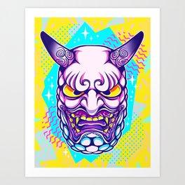 Neon Noh - Daikijin Art Print