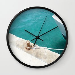 Boat Green Wall Clock