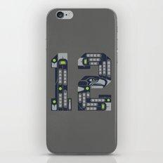 Seattle 12th Man iPhone & iPod Skin