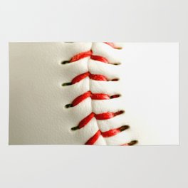 Base Ball Close Up Rug