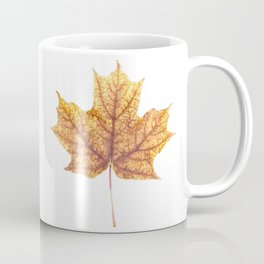 Gold Autumn Maple Leaf Coffee Mug