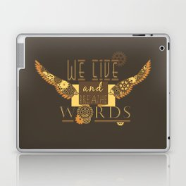Cassandra Clare - We Live And Breathe Words Laptop & iPad Skin