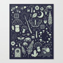 Fairy Garden: Midnight Canvas Print
