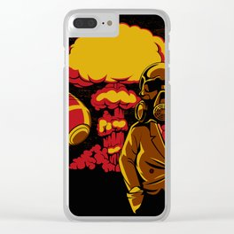 Nuclear explosion Clear iPhone Case
