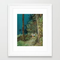wander Framed Art Prints featuring Wander by leafandpetal