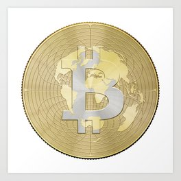 Bitcoin Crypto Currency Art Print