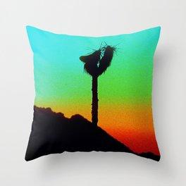 Lone Joshua Tree in Desert Sunset Throw Pillow