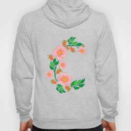 Abstract roses branch Hoody