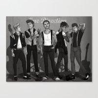 rockabilly Canvas Prints featuring Rockabilly Direction by maestolenpencil