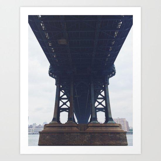 Manhattan Bridge, NY Art Print