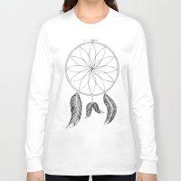 dreamcatcher Long Sleeve T-shirts featuring Dreamcatcher by #dancingpenguin