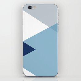 Geometrics - blues & concrete iPhone Skin