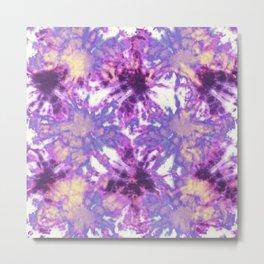 Tie-Dye Linen Bloom Metal Print