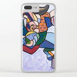 Minotaur Dance Clear iPhone Case