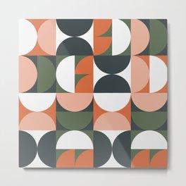 Mid Century Geometric 16 Metal Print