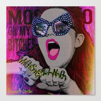 moschino Canvas Prints featuring MOSCHINO by AZZURRA DESIGNS