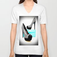 shoe V-neck T-shirts featuring Shoe Lust by 2sweet4words Designs