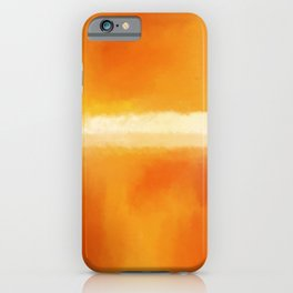 Mark Rothko Interpretation Orange On Orange iPhone Case
