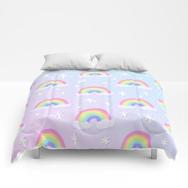Magical Pastel Rainbows! Comforters