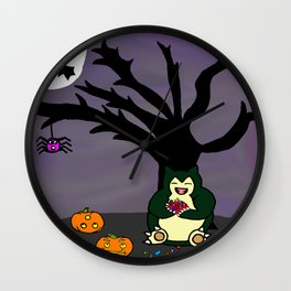 Halloween Munchies Wall Clock
