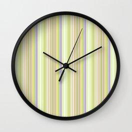 Lime Green Stripe, Ballard Cliff Spring Wall Clock