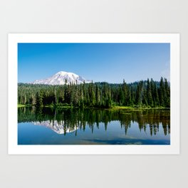 Mt. Rainer at Reflection Lakes Art Print