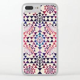 Sri Yantra  / Sri Chakra Pattern - Paint texture Clear iPhone Case