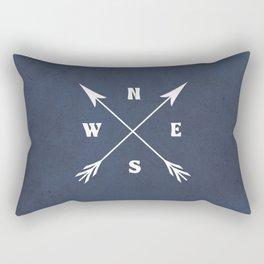 Compass arrows Rectangular Pillow