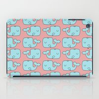whales iPad Cases featuring Whales by bylosangeles