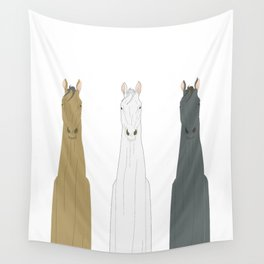 Triple Horses Wall Tapestry