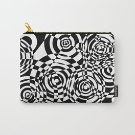 Raindrops 2 Black and White Geometric Painting Carry-All Pouch