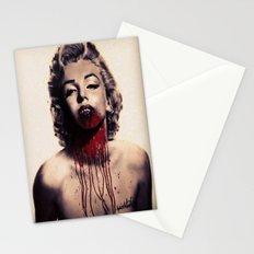Vampire Marilyn Monroe Stationery Cards