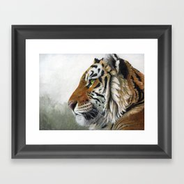 Tiger profile AQ1 Framed Art Print