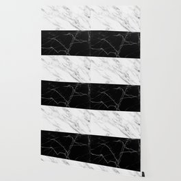 half black and white marble Wallpaper