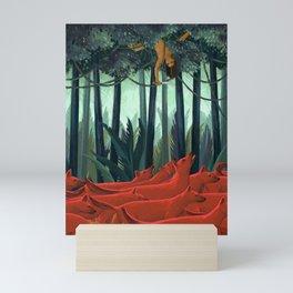 Red Dogs Mini Art Print